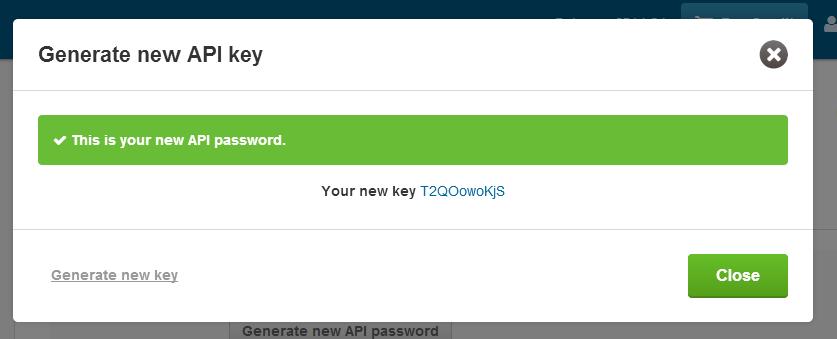 API password