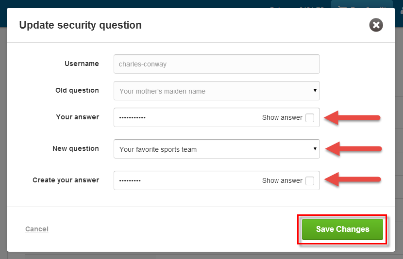 New security question