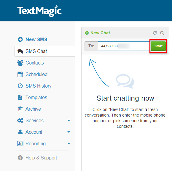 Start SMS Chat