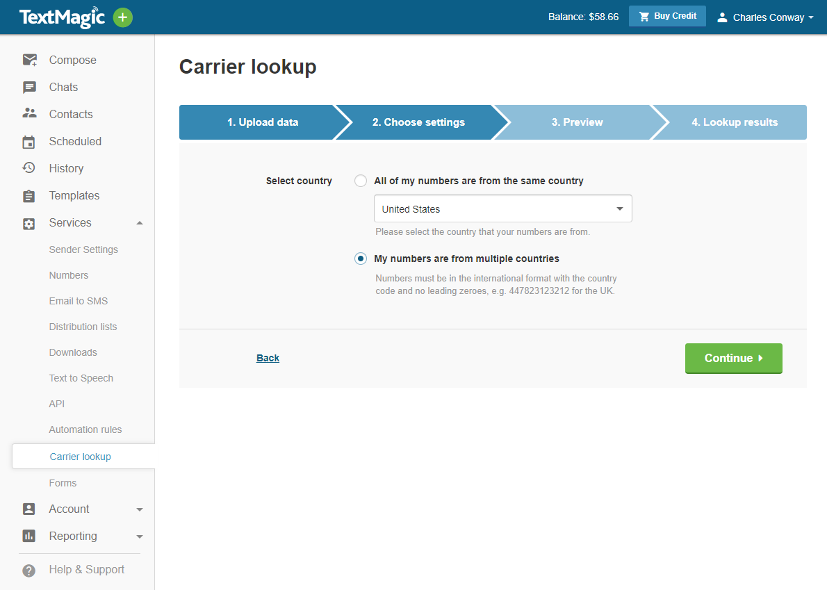 Lookup A Number >> Validate Numbers With Carrier Lookup Service Textmagic