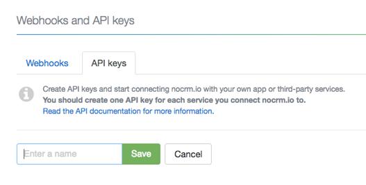 noCRM.io API key